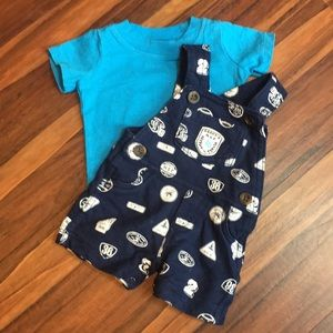 Newborn overall outfit